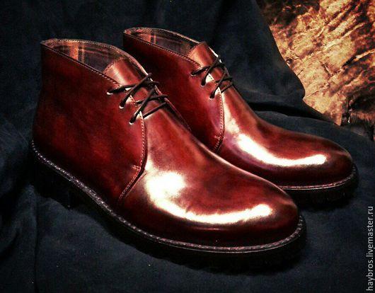 Обувь ручной работы. Ярмарка Мастеров - ручная работа. Купить ботинки men's boots Hay Bros 2016. Handmade. Бордовый