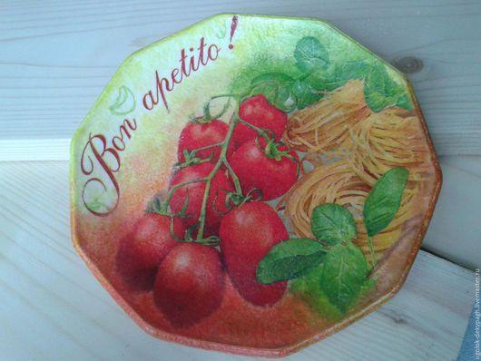 Декоративная посуда ручной работы. Ярмарка Мастеров - ручная работа. Купить Декоративная тарелка Bon Apetito. Handmade. Комбинированный
