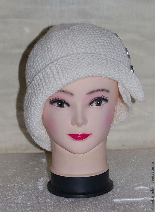 """Шляпы ручной работы. Ярмарка Мастеров - ручная работа. Купить шляпка """"РОБИНА"""". Handmade. Белый, ассиметрия"""