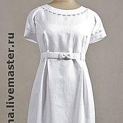Одежда ручной работы. Ярмарка Мастеров - ручная работа Льняное платье с вышивкой. Handmade.