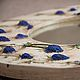 """Зеркала ручной работы. Ярмарка Мастеров - ручная работа. Купить Зеркало с синеголовником. """"Скандинавия"""".. Handmade. Белый, скандинавский стиль, акрил"""