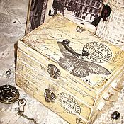 "Для дома и интерьера ручной работы. Ярмарка Мастеров - ручная работа Шкатулка трёхъярусная ""Винтаж"". Handmade."