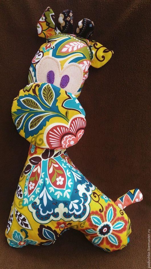 Игрушки животные, ручной работы. Ярмарка Мастеров - ручная работа. Купить Жираф. Игрушка-подушка Жирафик солнечный.. Handmade.