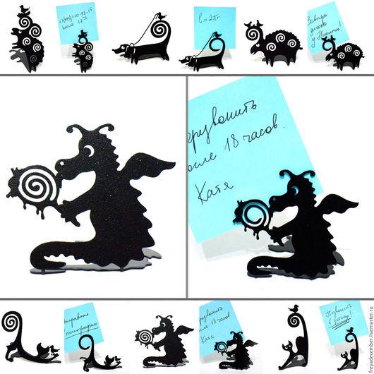 Дракон-сладкоежка. Держатель для фотографий/визиток.