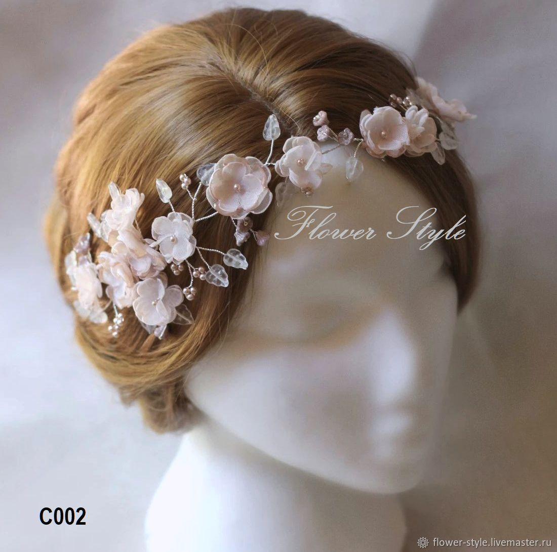 Свадебное украшение для волос С002, Диадемы, Москва,  Фото №1