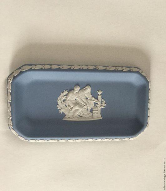 Винтажная посуда. Ярмарка Мастеров - ручная работа. Купить Wedgwood, коллекционная винтажная тарелка, бисквитный фарфор.. Handmade. Голубой, блошка