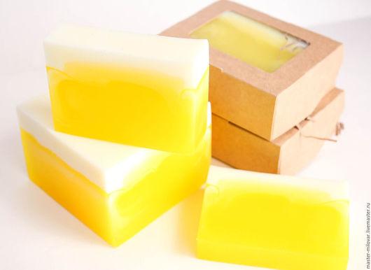 Мыло ручной работы. Ярмарка Мастеров - ручная работа. Купить глицериновое мыло на каждый день АНАНАС-ЛИМОН. Handmade.