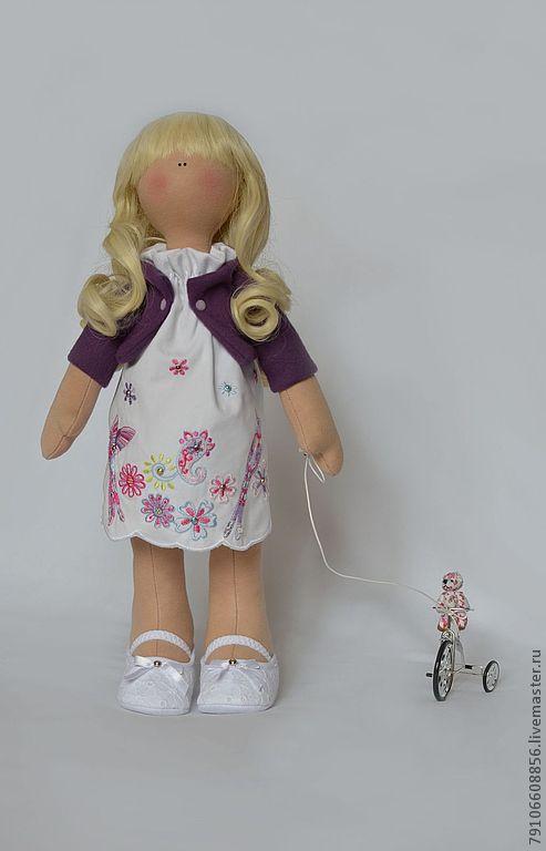 Коллекционные куклы ручной работы. Ярмарка Мастеров - ручная работа. Купить Дарина. Handmade. Коллекционная кукла, Машинная вышивка