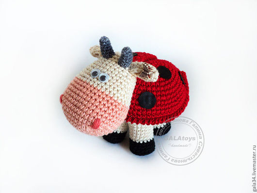 Animal Toys handmade. Livemaster - handmade. Buy Cow. Of God :).Ladybug, cool gift, genuine leather