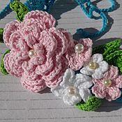 Работы для детей, handmade. Livemaster - original item Accessories for the photoshoot: HEADBANDS knitted for girls. Handmade.