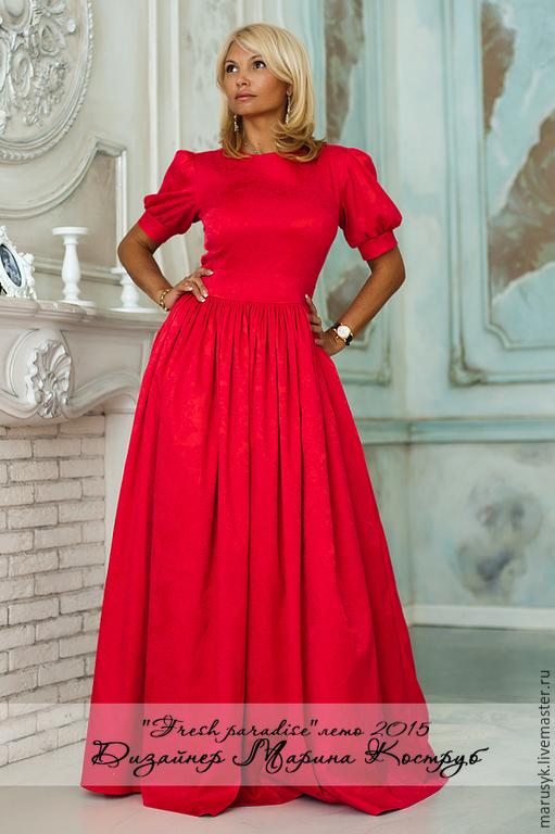 Платья ручной работы. Ярмарка Мастеров - ручная работа. Купить Платье ФП-6. Handmade. Однотонный, платье в пол