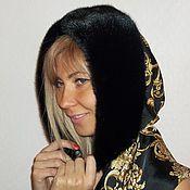 Аксессуары handmade. Livemaster - original item hood silk with mink edge. Handmade.