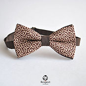 Аксессуары handmade. Livemaster - original item Tie brown grace, the wedding in a brown color, the groom. Handmade.