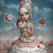 """Картины и панно ручной работы. Ярмарка Мастеров - ручная работа Картина маслом на холсте """"Алиса"""" 30/45см. Handmade."""