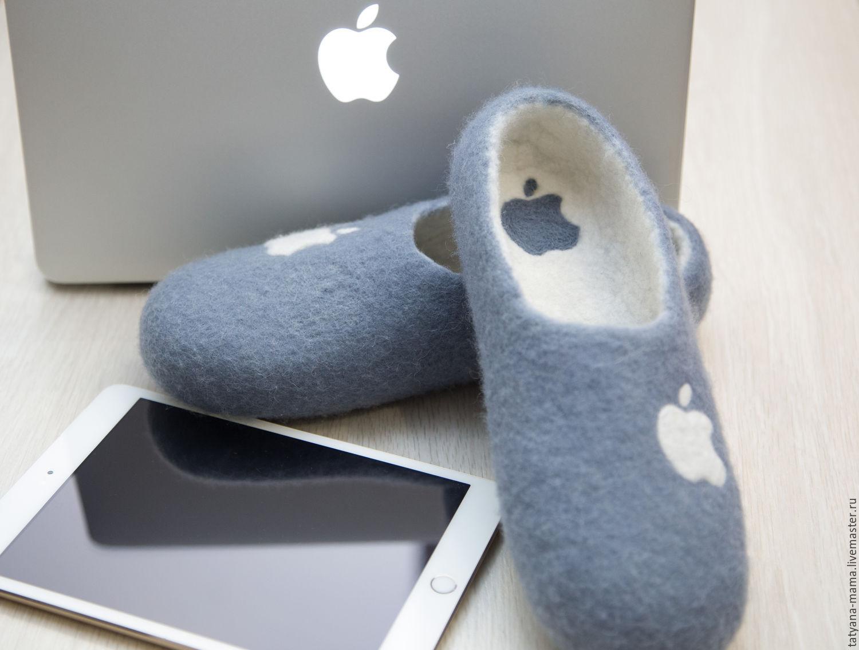 Обувь ручной работы. Ярмарка Мастеров - ручная работа. Купить Валяные тапочки Apple. Handmade. Подарок, тапочки из шерсти