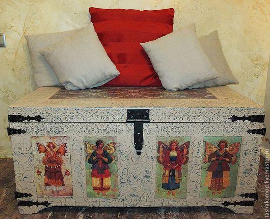 """Мебель ручной работы. Ярмарка Мастеров - ручная работа. Купить """"Бохо"""" (Сундук + зеркало со столиком и полкой). Handmade."""