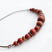 Украшения handmade. Livemaster - original item Necklace with red Jasper