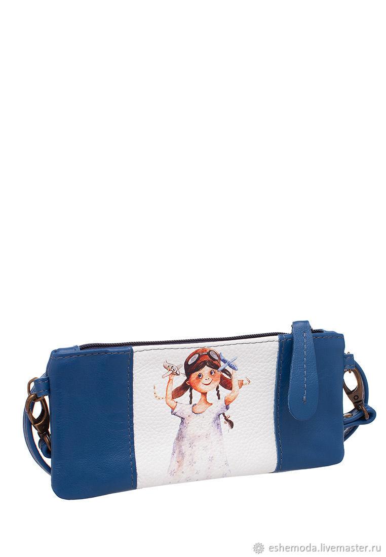 Детская мини сумочка «Летчица», цвет синий, Сумки, Москва, Фото №1