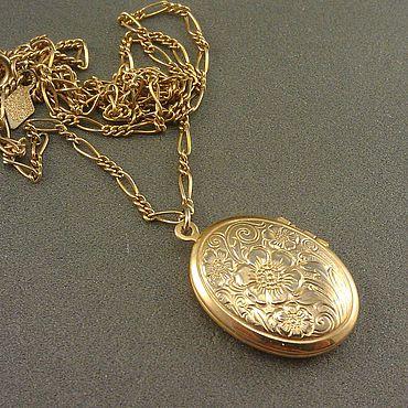 Винтаж ручной работы. Ярмарка Мастеров - ручная работа Sarah Coventry. Винтажный медальон на цепочке. Handmade.