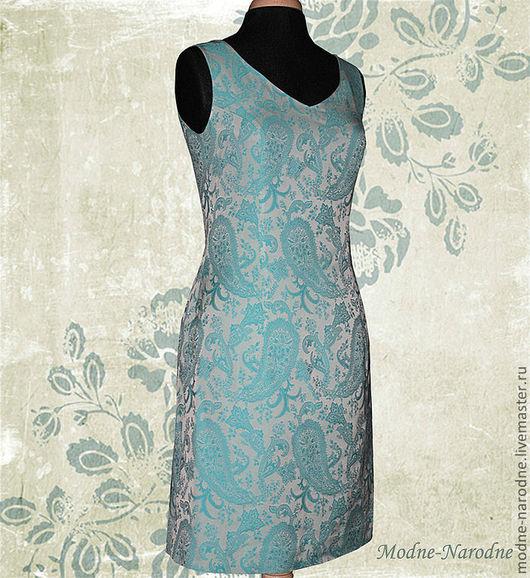 жаккардовое платье Небесное-Чудесное