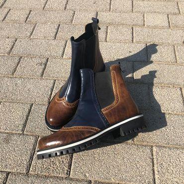 """Обувь ручной работы. Ярмарка Мастеров - ручная работа Челси """"dark blue/brown"""". Handmade."""