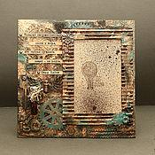 Сувениры и подарки ручной работы. Ярмарка Мастеров - ручная работа Фоторамка в стиле Стимпанк. Handmade.