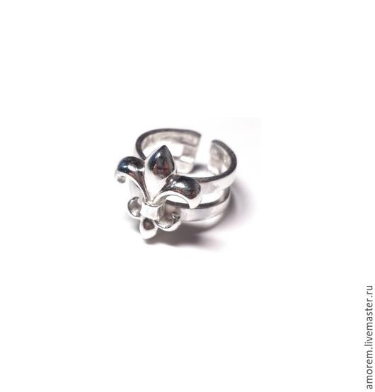 Кольца ручной работы. Ярмарка Мастеров - ручная работа. Купить Фаланговое кольцо с флер де лис. Handmade. Серебряный, серебро