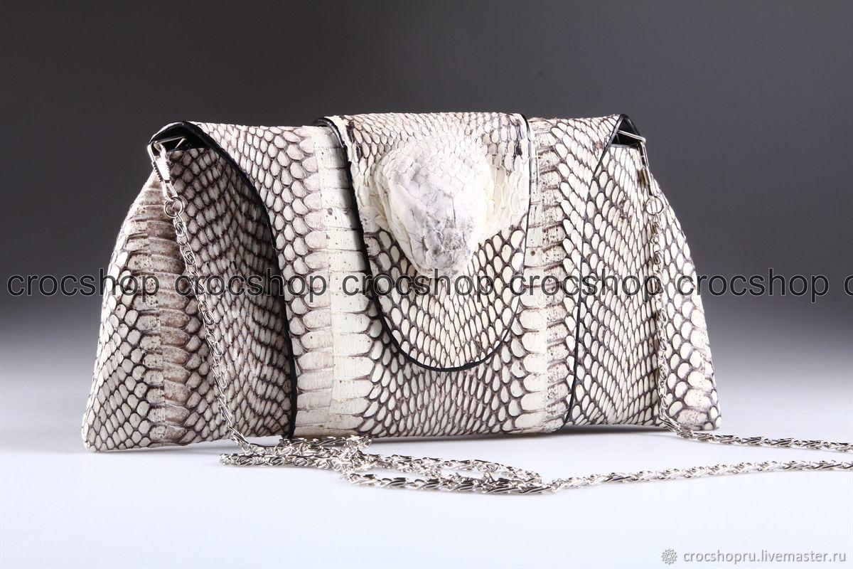 Handbags handmade. Livemaster - handmade. Buy Clutch women's leather Cobra head snake IMK0010Z1.Clutch, bag of cobras