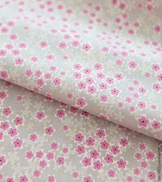 Шитье ручной работы. Ярмарка Мастеров - ручная работа. Купить Хлопок К1-37 розовые цветы Корея. Handmade.