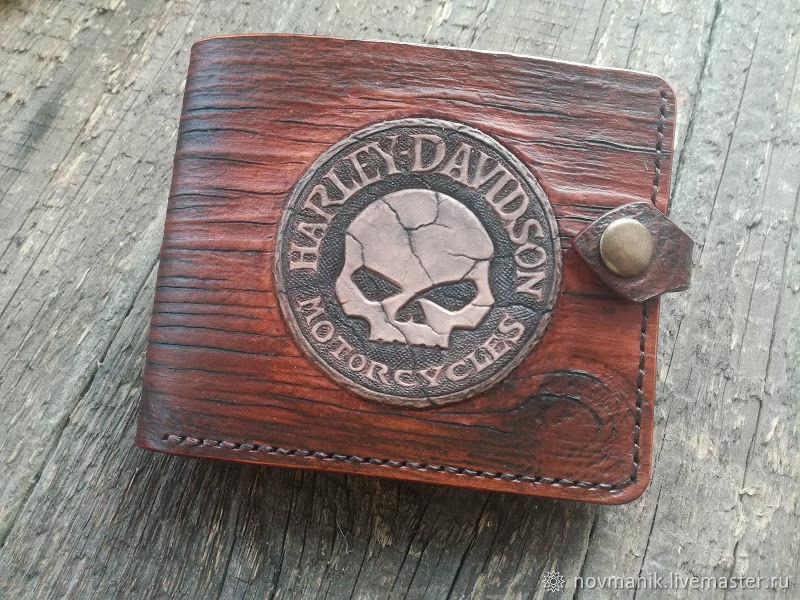 Портмоне (кошелек, бумажник) двойного сложения (Bi-fold wallet) № 37, Кошельки, Ковров,  Фото №1