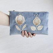 Beauticians handmade. Livemaster - original item Cosmetic bag with handle. Large cosmetic bag with embroidery.. Handmade.