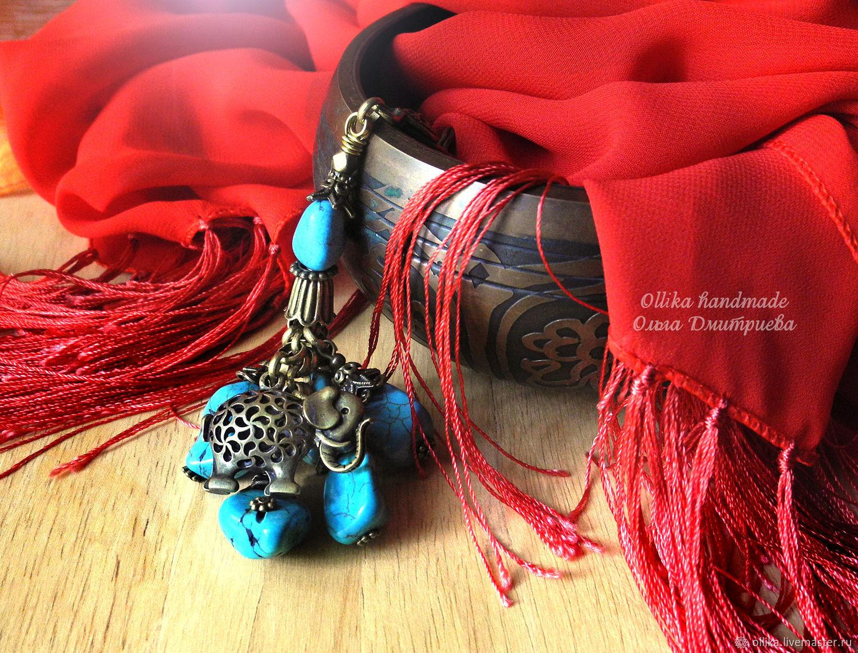 Брелок Веселый Цирковой Слоник украшение на сумку брелок для ключей