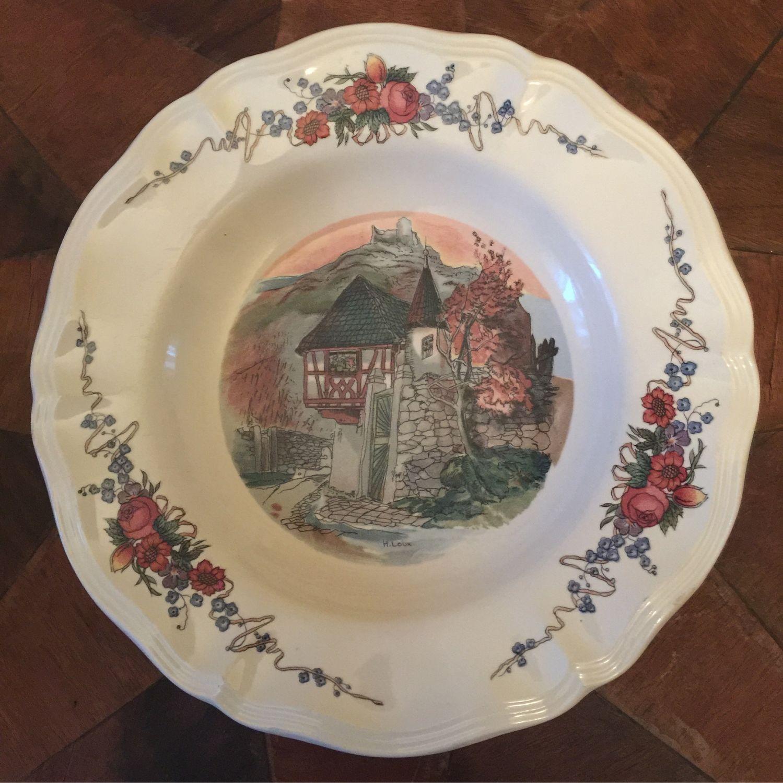 Obernai soup plate, Vintage plates, Kaliningrad,  Фото №1