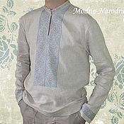 Одежда ручной работы. Ярмарка Мастеров - ручная работа Рубаха ЯСЕНЬ льняная Cтильные рубашки Вышиванки мужские Модные рубашки. Handmade.