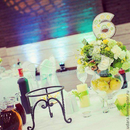 номера для столов на лимонной свадьбе