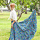 Skirts handmade. Livemaster - handmade. Buy Long skirt Indigo.Long skirt, paisley
