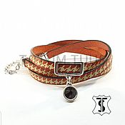Украшения handmade. Livemaster - original item Leather bracelet...for Her Art:18000126. Handmade.