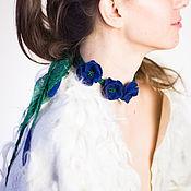 Украшения handmade. Livemaster - original item Jewelry-choker with flowers from felt. Handmade.