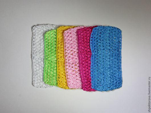 Другие виды рукоделия ручной работы. Ярмарка Мастеров - ручная работа. Купить Повязки на голову эластичные сеточка 6,5см основа. Handmade.