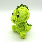 Куклы и игрушки handmade. Livemaster - original item Knitted toy Dinosaur light green. Handmade.