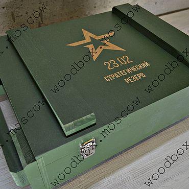 Материалы для творчества ручной работы. Ярмарка Мастеров - ручная работа Военный ящик. Handmade.