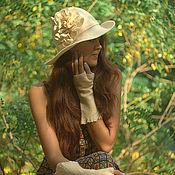 """Аксессуары ручной работы. Ярмарка Мастеров - ручная работа Шляпка """"Габриэль"""". Handmade."""