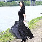 """Одежда ручной работы. Ярмарка Мастеров - ручная работа Шелковая двухслойная черно-белая юбка """"По мотивам Chanel"""". Handmade."""