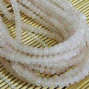 Материалы для творчества handmade. Livemaster - original item Rondelle rose quartz. Handmade.