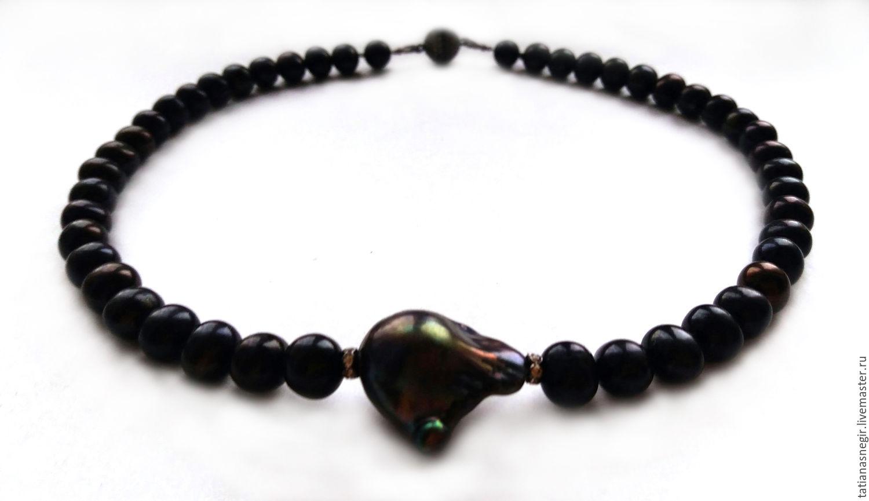 Necklace-choker, natural pearls, Chokers, Lytkarino,  Фото №1