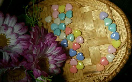 Для украшений ручной работы. Ярмарка Мастеров - ручная работа. Купить Бусины сердечки. Handmade. Бусины, сердечки, бусины сердечки