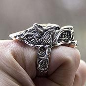 Украшения handmade. Livemaster - original item Ring of Wolf silver of 925. Handmade.