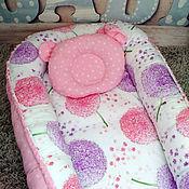 """Кокон-гнездо ручной работы. Ярмарка Мастеров - ручная работа Кокон """"Одуванчик"""" (розовый). Handmade."""