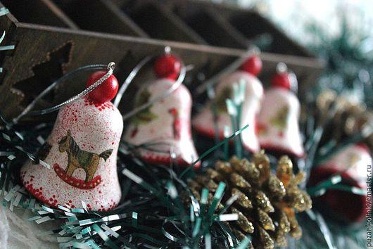 """Новый год 2017 ручной работы. Ярмарка Мастеров - ручная работа. Купить Набор мини-игрушек в коробе """"Детство"""". Handmade. Белый"""