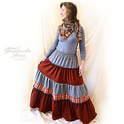 Одежда handmade. Livemaster - original item Skirt boho warm